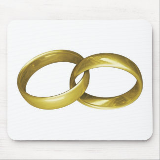 Gold Rings Mouse Pads