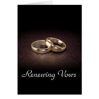 Gold Rings Renewing Vows Card