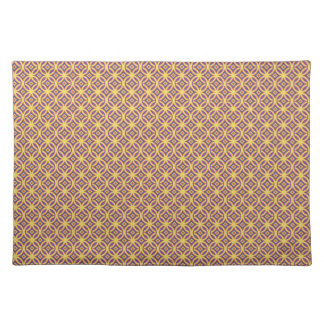 Gold Rings With Purple Red and Blue Place Mat