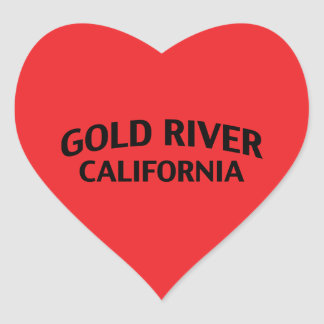 Gold River California Heart Stickers