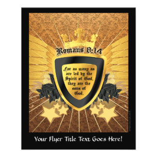 Gold Romans 8:14, Sons of God 11.5 Cm X 14 Cm Flyer