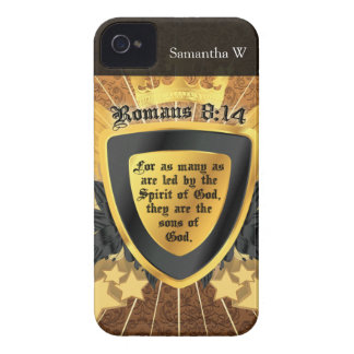 Gold Romans 8 14 Sons of God iPhone 4 Case-Mate Cases