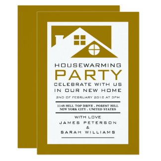 Gold Rooftop, Housewarming Party, House Party Card