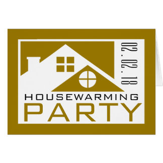 Gold Rooftop, Housewarming Party Invitation