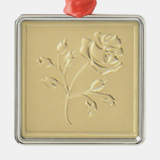 Gold Rose Christmas Ornament