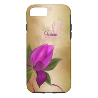 Gold Rose Floral Marble iPhone 8/7 Case