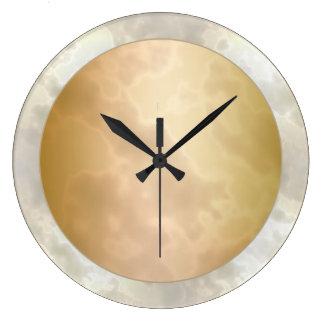 Gold Rose Marbled Large Clock