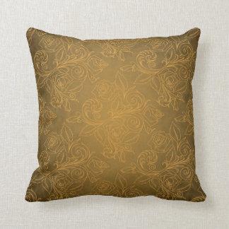 Gold Rose Pillow