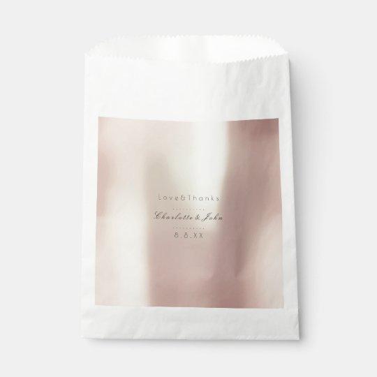 Gold Rose Pink Metallic Minimal Pearly Favor Favour