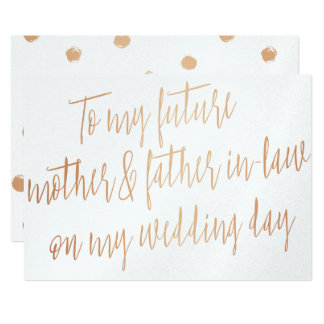 "Gold Rose ""To my future mother and father-in-law"" Card"