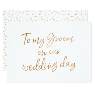 Gold Rose To my Groom Card