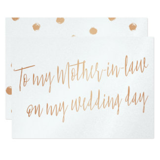 "Gold Rose ""To my mother-in-law on my wedding day"" Card"