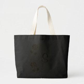 Gold Roses, Monogram Tote Bags, Template Jumbo Tote Bag