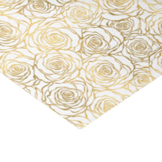 Gold Roses Tissue Paper