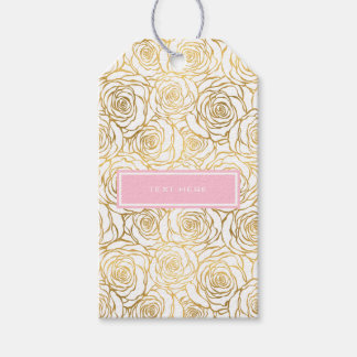 Gold Roses with Pink