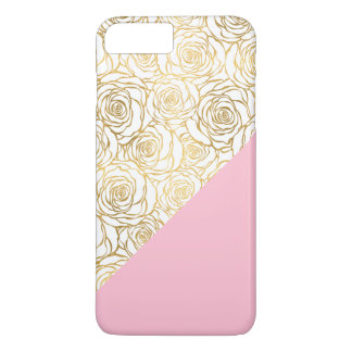 Gold Roses with Pink iPhone 7 Plus Case