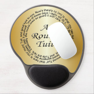 Gold Round Tuit Gel Mouse Mat