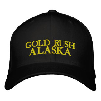 GOLD RUSH, ALASKA EMBROIDERED BASEBALL CAP