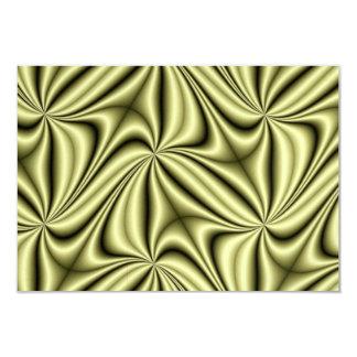Gold Rush Hologram Fractal 9 Cm X 13 Cm Invitation Card