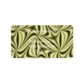 Gold Rush Hologram Fractal Address Label