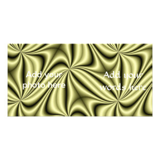 Gold Rush Hologram Fractal Personalized Photo Card