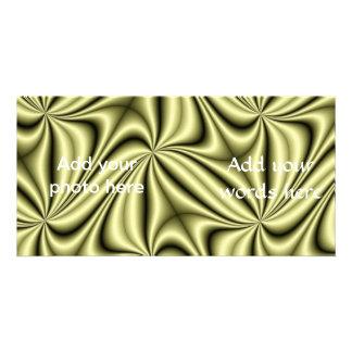 Gold Rush Hologram Fractal Photo Greeting Card