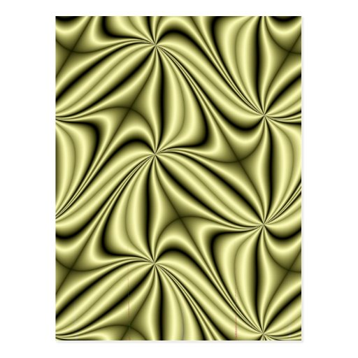Gold Rush Hologram Fractal Post Card