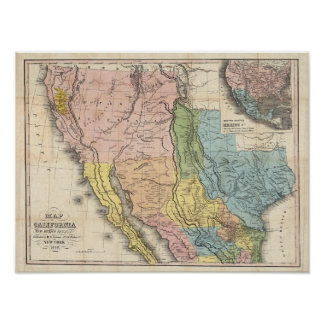Gold Rush to California Poster