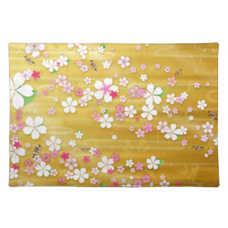 Gold Sakura Kimono Placemat
