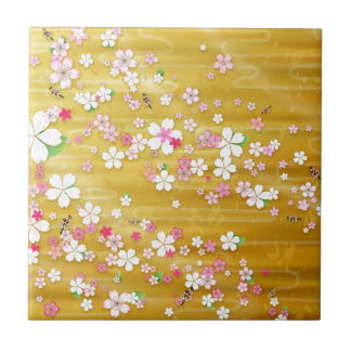 Gold Sakura Kimono Tile