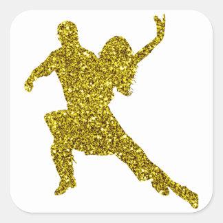 Gold Salsa Sticker