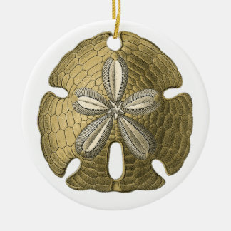 Gold Sand Dollar Ornament
