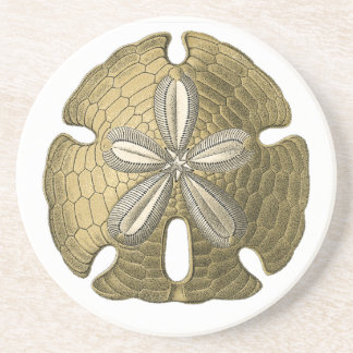 Gold Sand Dollar Stone Coaster