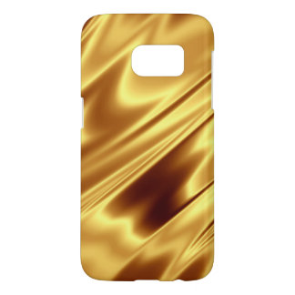 Gold Satin Samsung Galaxy S7 Phone Case