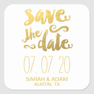 Gold Save Our Date | Save the Date Sticker