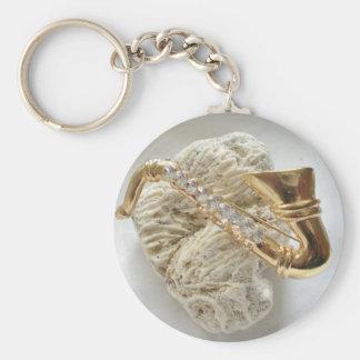 Gold Saxophone Key Ring