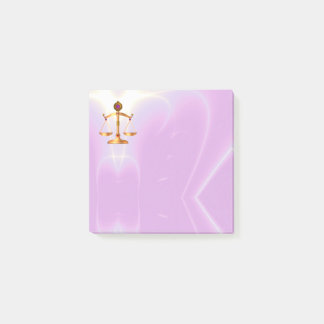 GOLD SCALES OF LAW, ATTORNEY Ultra Violet Pink Post-it Notes