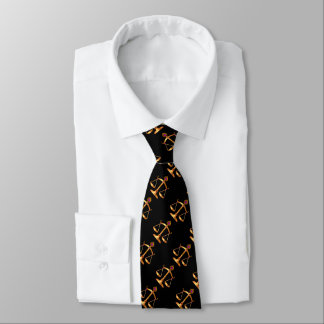 GOLD SCALES OF LAW,GEM STONES,Justice Symbol Black Tie