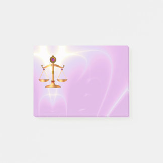 GOLD SCALES OF LAW ,Justice Symbol, Ultra Violet Post-it Notes