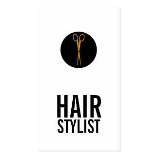 Gold Scissors Black Dot - Hair Stylist Pack Of Standard Business Cards