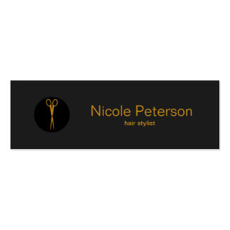 Gold Scissors Black Dot - Hair Stylist Pack Of Skinny Business Cards