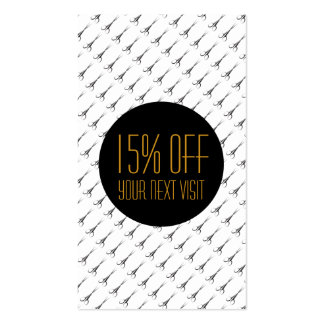 Gold Scissors Black Dot - Hair Stylist - discount Pack Of Standard Business Cards