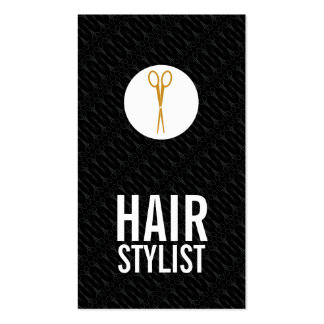 Gold Scissors White Dot - Hair Stylist Pack Of Standard Business Cards