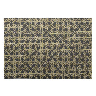 Gold Scratch Golden Modern Glamour Unique Elegant Placemat