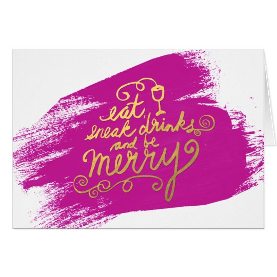 Gold Script Eat, Drink and Be Merry Holiday