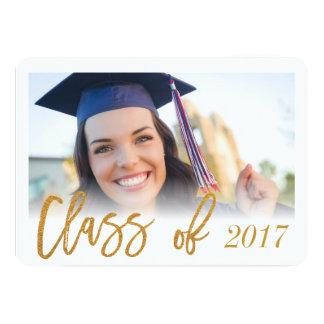 Gold Script Graduation Announcement