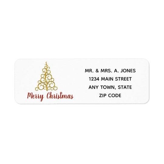 Gold Scroll Christmas Tree