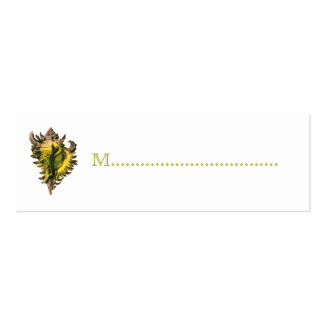 Gold Sea Shell Reception Table Seating Cards Pack Of Skinny Business Cards
