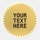 Gold Seal award with custom text