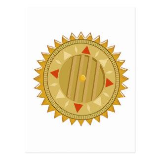 Gold SEAL : Sun CHAKRA Compass Postcard
